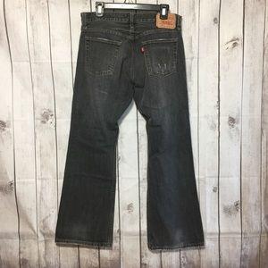 Levis 527 Low Boot Cut Jeans Mens 34x30 Gray